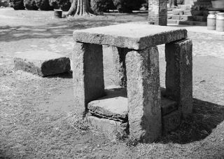 "L'""auction block"" di Green Hill Plantation, Campbell County, Virginia"