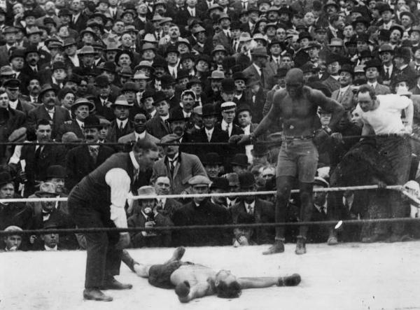 Jack Johnson vs Stanley Ketchel