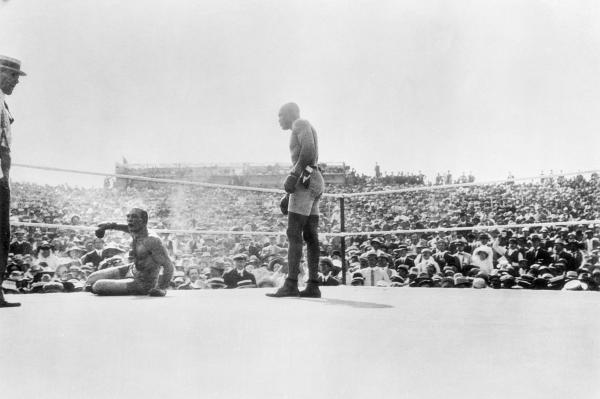 """The Fight of the Century"". Jack Johnson vs James J. Jeffries"