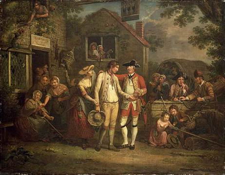 John Collet (1725-1780) The Recruiting Sergeant