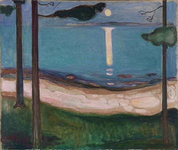 Edvard Munch, 1895 Moonlight