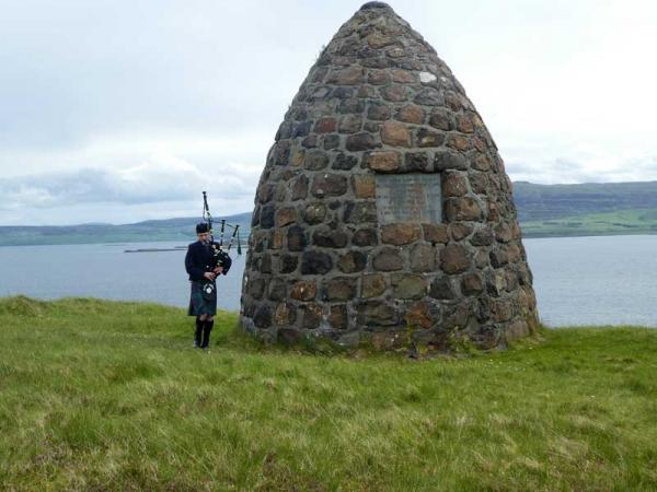 The MacCrimmon Memorial, Borreraig, Dunvegan, Skye