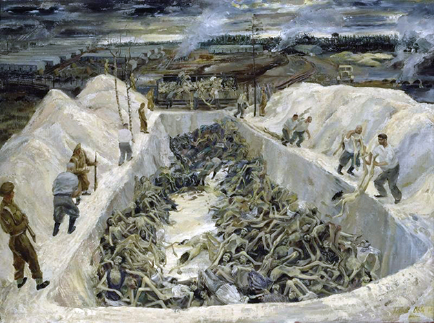 One of the death pits ,1945  Leslie Cole - London, IWM