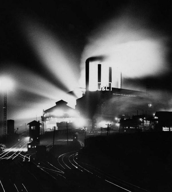 Pittsburgh steel mill, 1946