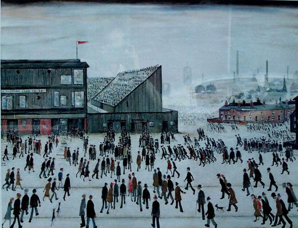 "Laurence Stephen Lowry, ""A Football Match"", 1949"