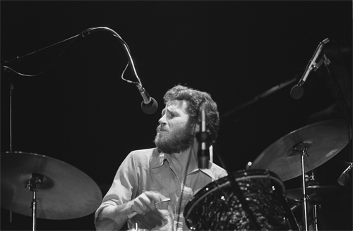 Levon Helm with drums