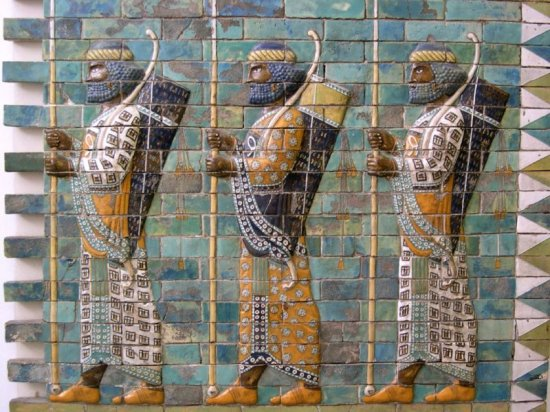 Persian warriors from Berlin Museum