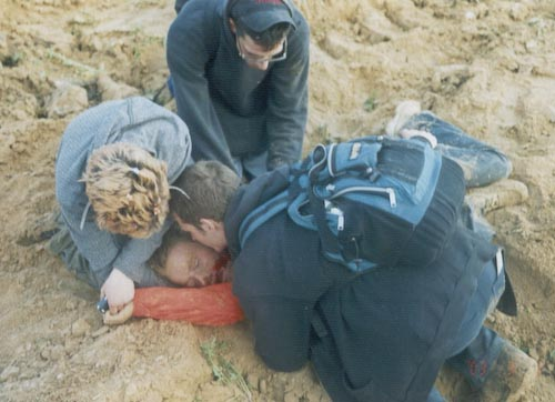 Rachel Corrie crushed by bulldozer