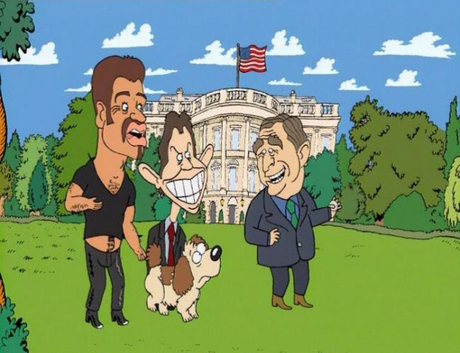 Shoot the dog! -but only that disguised in US president.