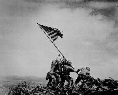 WW2 Iwo Jima flag raising