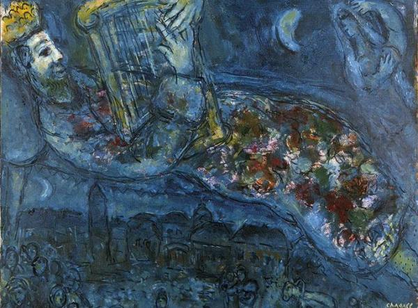 Marc Chagall,1951 - Re David in Blu