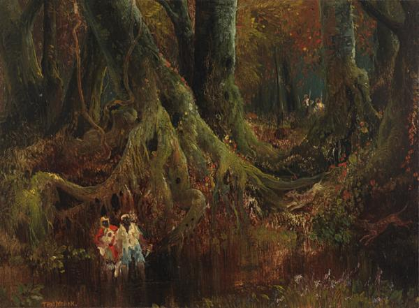 Thomas Moran: Slave Hunt, Dismal Swamp, Virginia