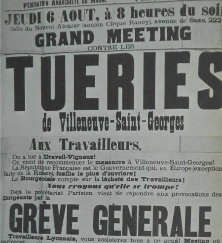 Tueries a Villeneuve-Saint-Georges