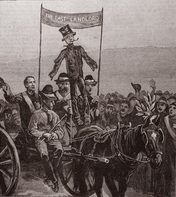Demonstration on Mr Parnell's Estate, Avondale, Wicklow, Ireland, 1882