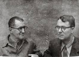 Bertolt Brecht e Eric Bentley nel 1948<br />