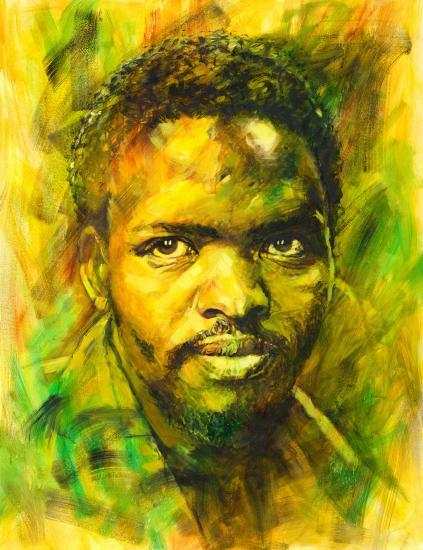 Steve Biko. An artwork by Therese Mullins.