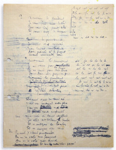Il manoscritto de Le Déserteur: Boris Vian, 15 febbraio 1954.<br />