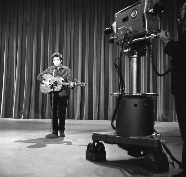 Bob Dylan during rehearsals for the Ed Sullivan Show on May 12, 1963 CBS Photo Archive / Getty Images