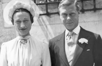 Wallis Simpson (nata Bessie Wallis Warfield) e Edoardo VIII.
