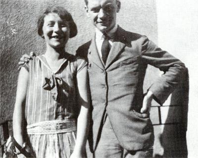 Attila József e sua madre.