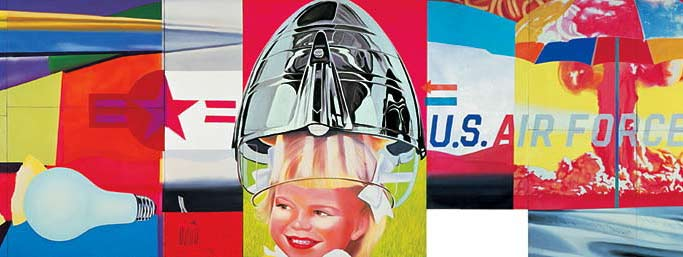 James Rosenquist, F-111, 1964–65 (dettaglio). The Museum of Modern Art, New York. full view