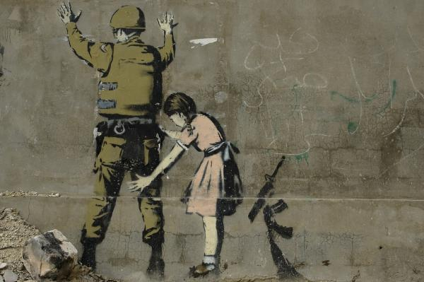 The Soldier Girl: graffito di Banksy.