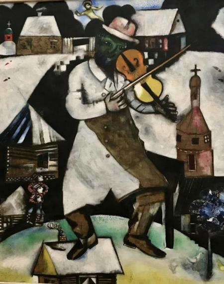 Marc Chagall,1912 -  Le Violoniste  - Stedelijk Museum Amsterdam