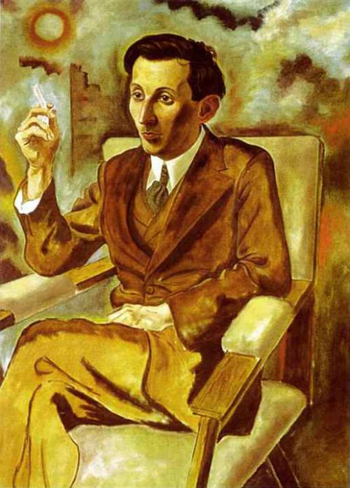 Walter Mehring ritratto dal pittore George Grosz nel 1925