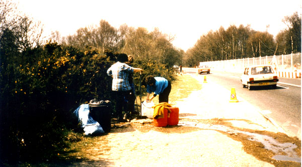 Ulla Moltved: The only waterpost at Greenham Common, summer 1984.