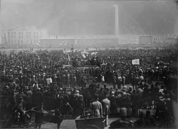 The Great Chartist Meeting on Kennington Common, London in 1848