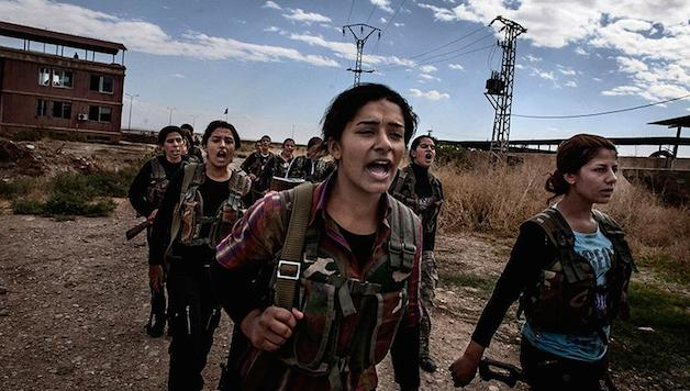Le ragazze del Rojava. The Rojava girls.