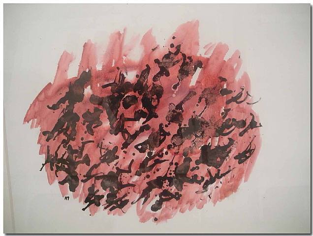 Sans titre. Acquarello di Henri Michaux. <br />