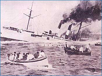 I naufraghi del Sirio abbandonano la nave