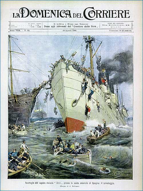 Il naufrafio del Sirio - Domenica del Corriere, 1908