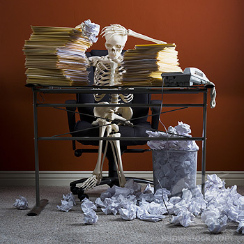 skeleton-at-desk