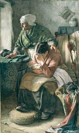 Walter Langley: But men must work and women must weep (1883)